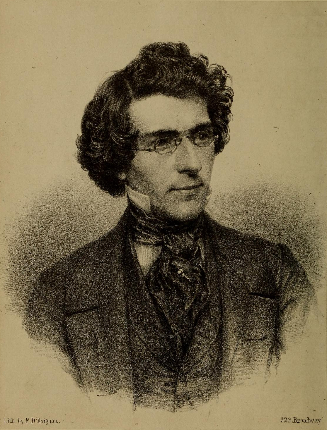 A lithograph of Civil War photographer Mathew Brady