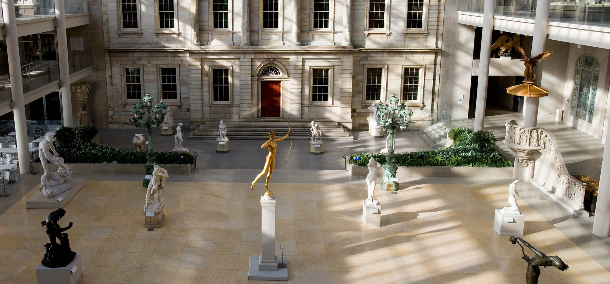 The sculpture court in front of the American Wing of the Metropolitan Museum of Art