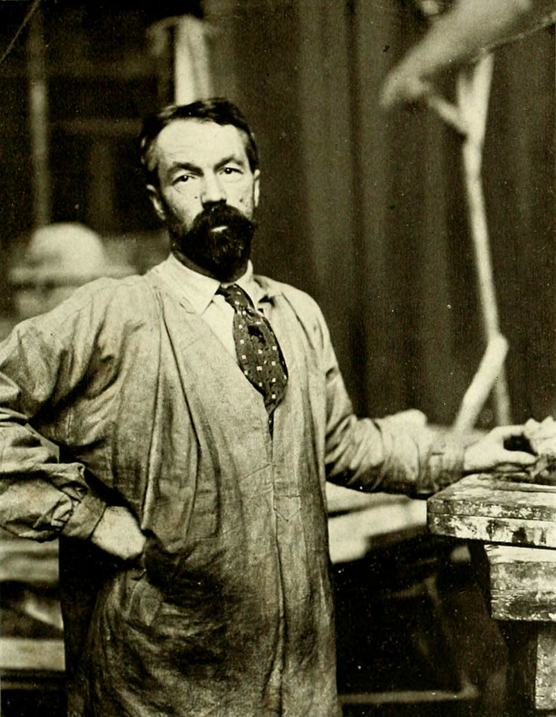 Sculptor Karl Bitter as he appeared in the early 1900s