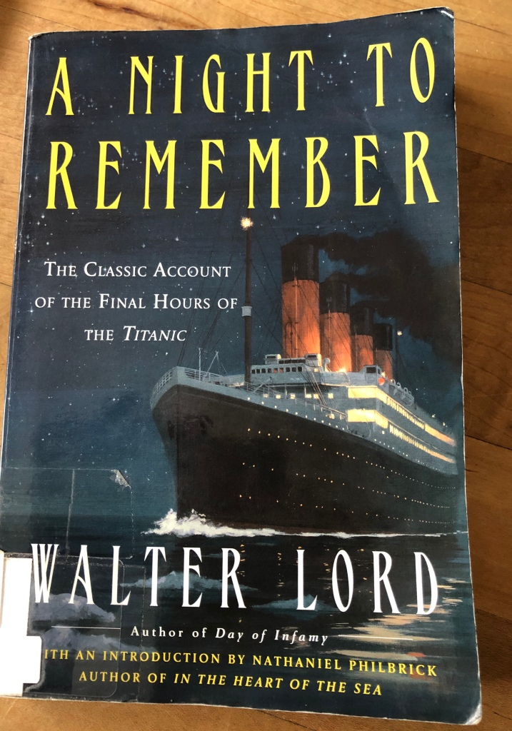 Titanic classic book A Night to Remember by Walter Lord