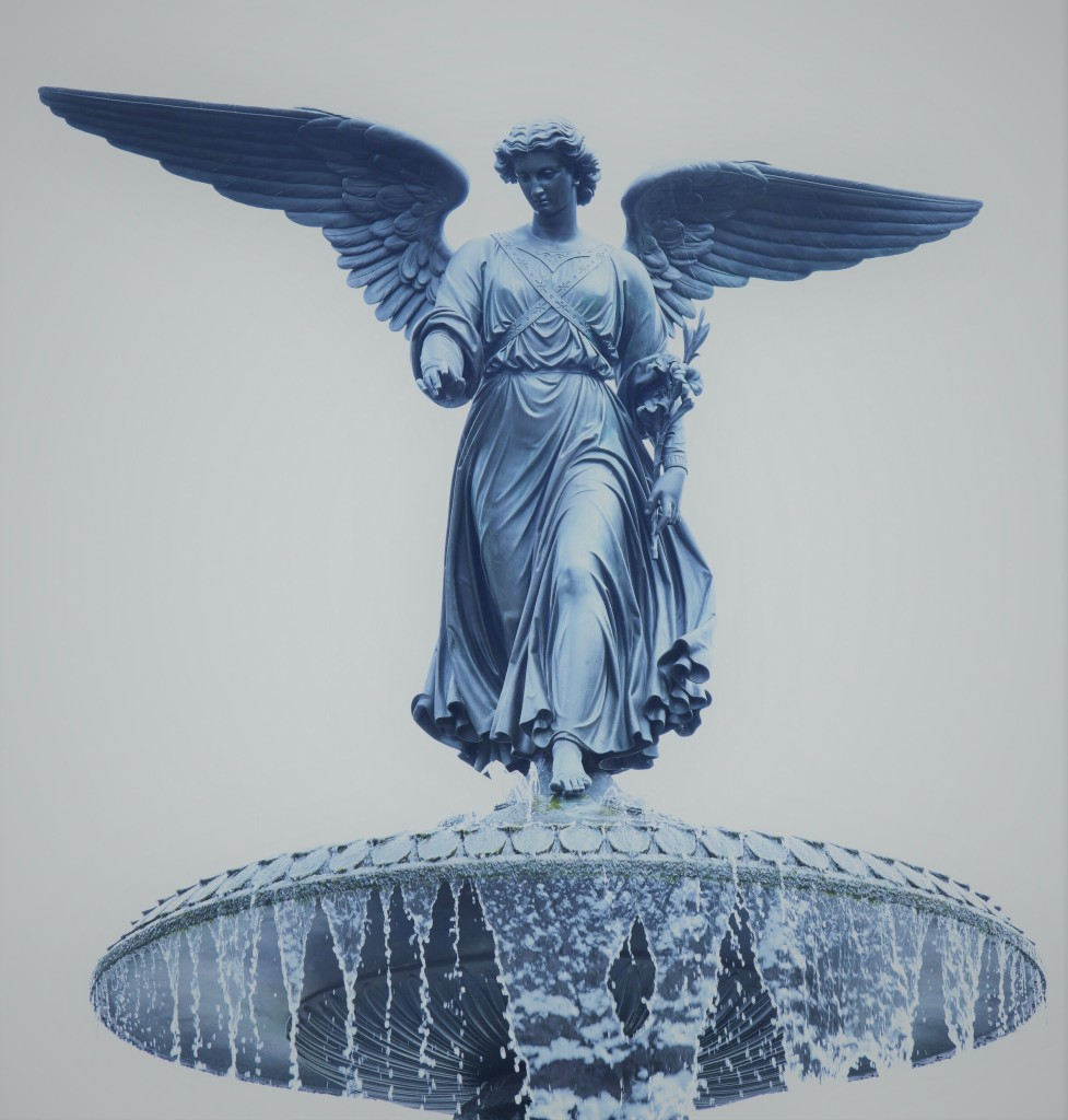 Close up of the Angel of the Waters. Photo by Douglas Biklen.