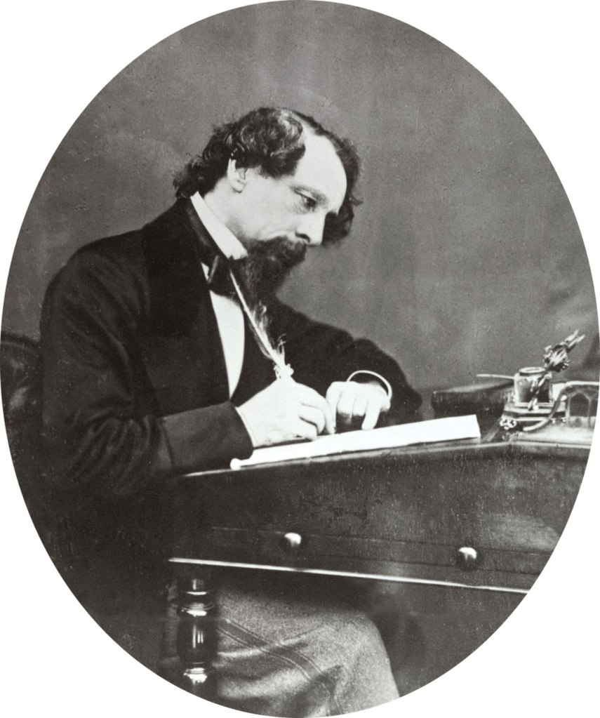 Photograph of Charles Dickens.