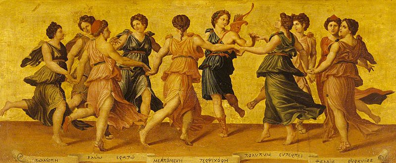 Painting of the muses.